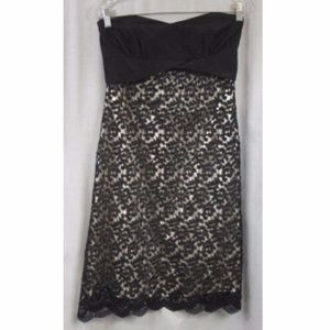 WHBM Strapless Lace Overlay Dress 4